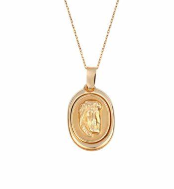 002154 Φυλαχτό Κωνσταντινάτο Ιησούς Χρυσός