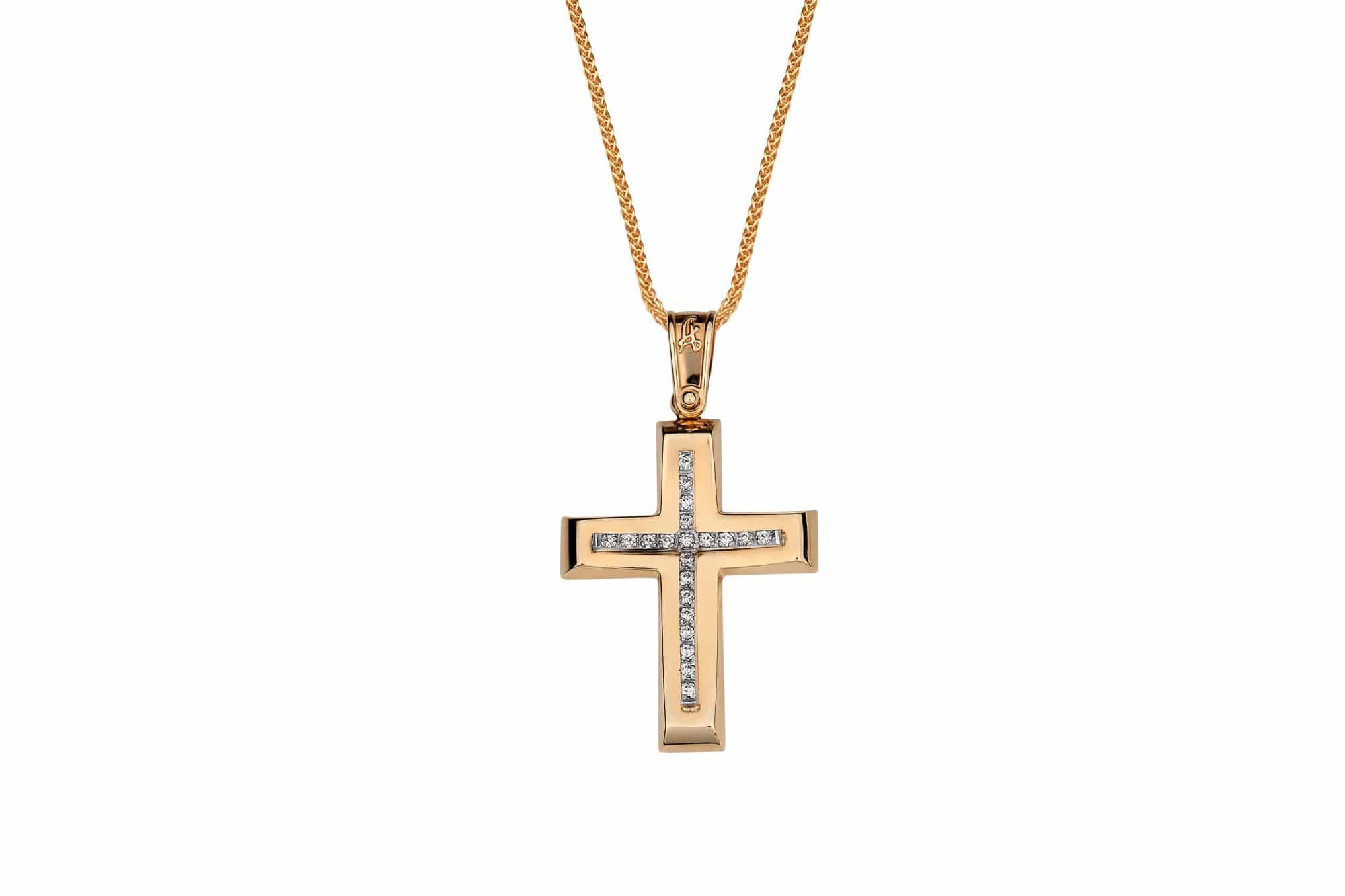 Σταυρός Χρυσός   Λευκόχρυσος Με Ζιργκόν • Jewelor 5411a82f244