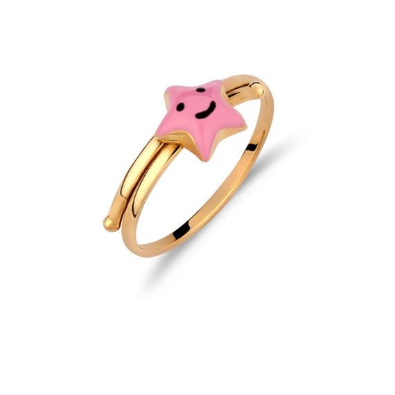 002010 Δαχτυλίδι Παιδικό Αστεράκι Χρυσό Jewelor