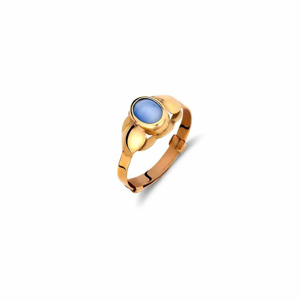 Δαχτυλίδι Παιδικό Οβάλ Χρυσό Με Μπλε Πέτρα Για Κορίτσι – Jewelor e38387b376a