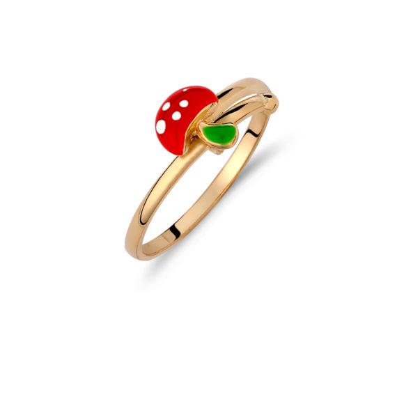002020 Δαχτυλίδι Παιδικό Μανιτάρι Χρυσό Jewelor