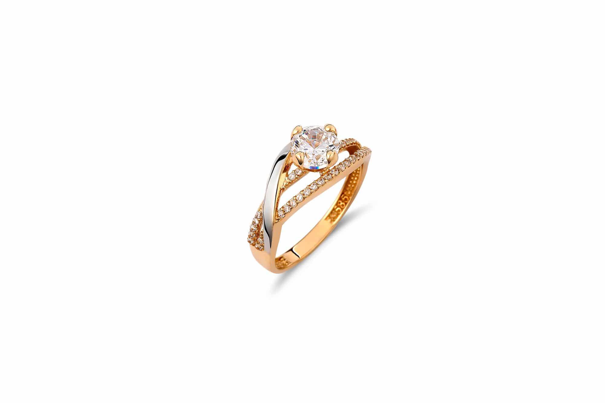 Μονόπετρο Σειρέ Χρυσό Καιamp  Λευκόχρυσο Με Ζιργκόν – Jewelor d566d504378