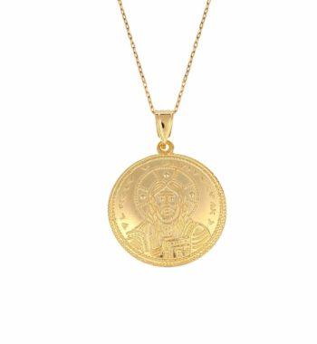 002164 Φυλαχτό Κωνσταντινάτο Παντοκράτωρ Χρυσό Διπλής Όψης