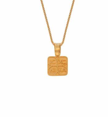 002242 Φυλαχτό Κωνσταντινάτο Ανάγλυφο Χρυσό ΔΟ
