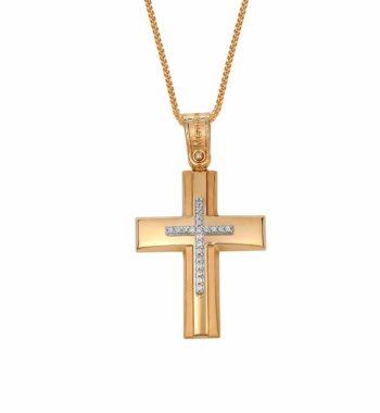 002297 Σταυρός Χρυσος Με Ζιργκόν