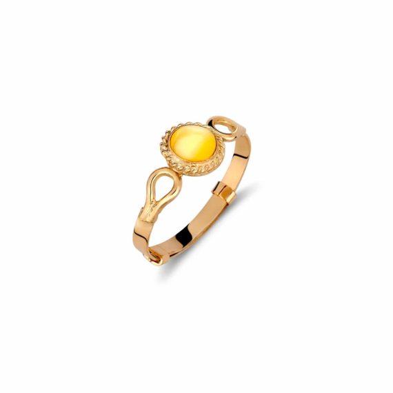 Δαχτυλίδι Παιδικό Χρυσό Με Χρωματιστή Πέτρα Για Κορίτσι 002008
