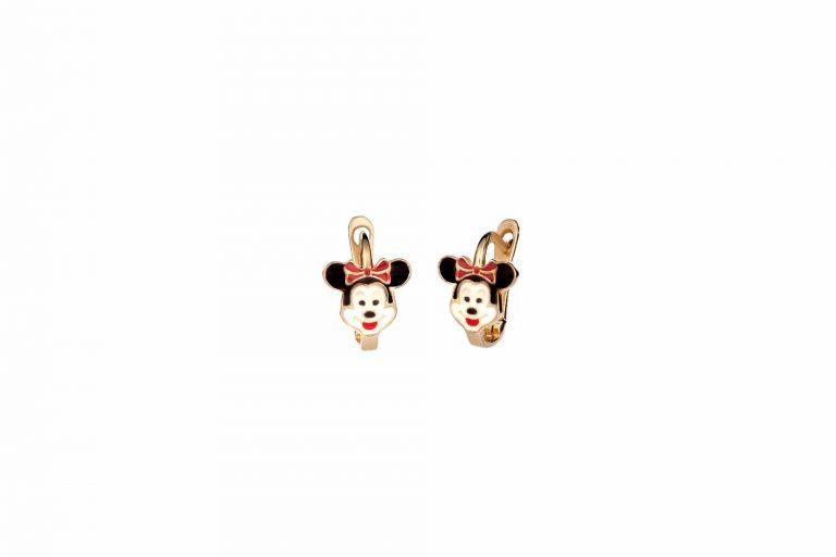 E14 005 Σκουλαρίκι Παιδικό Χρυσό Mini Mouse