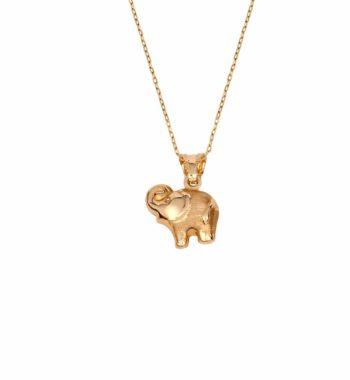 K04 008 Κρεμαστό Ελεφαντάκι Χρυσός