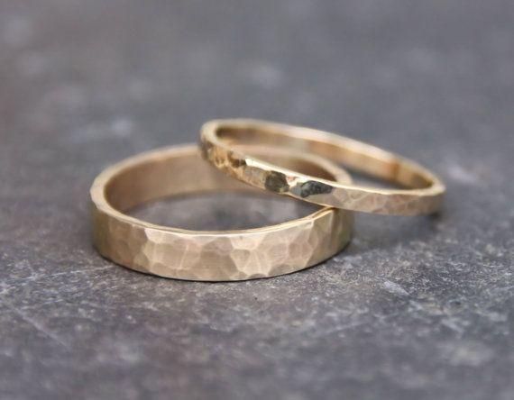 Χρυσές βέρες γάμου σφυρήλατες - Jewelor