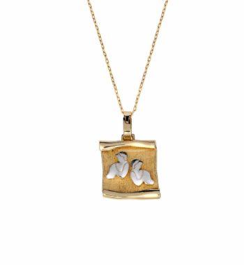Z03 005 Ζώδιο Χρυσός & Λευκόχρυσος Πάπυρος Σφυρήλατος