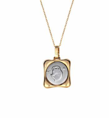 Z03 006 Ζώδιο Χρυσός & Λευκόχρυσος Κορνίζα