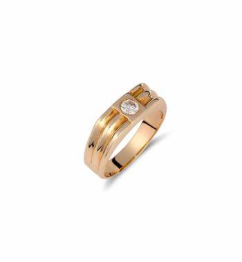 002102 Δαχτυλίδι Χρυσό Με Ζιργκόν