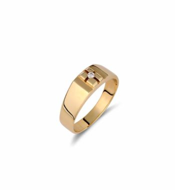 002108 Δαχτυλίδι Χρυσό Με Ζιργκόν