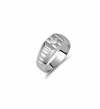 002118 Δαχτυλίδι Λευκόχρυσο Με Ζιργκόν