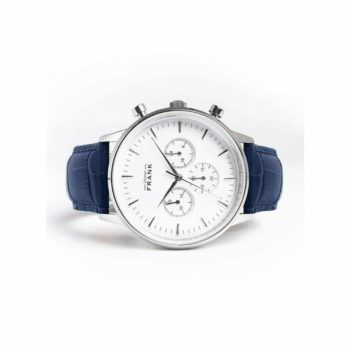 Grand Frank Montpellier White Chronograph Unisex Watch – 002307