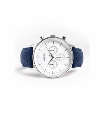 002307 Grand Frank Montpellier White Chronograph