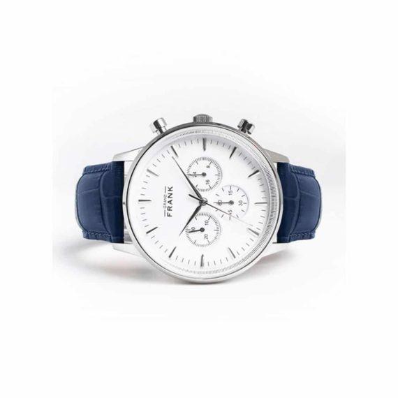 002307 Grand Frank Montpellier White Chronograph