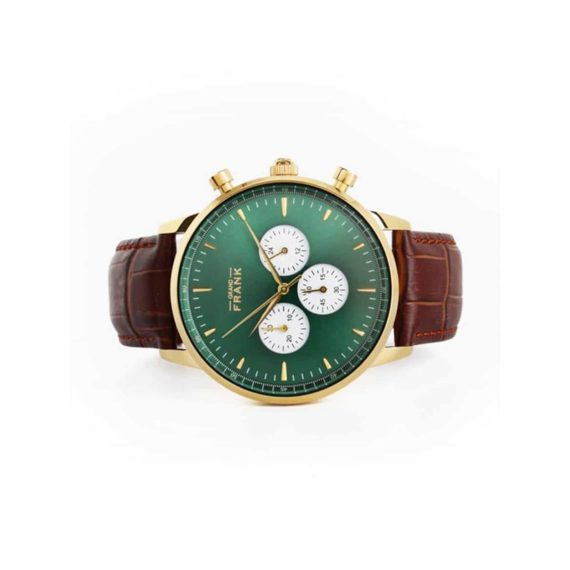 002309 Grand Frank Montpellier Green Chronograph