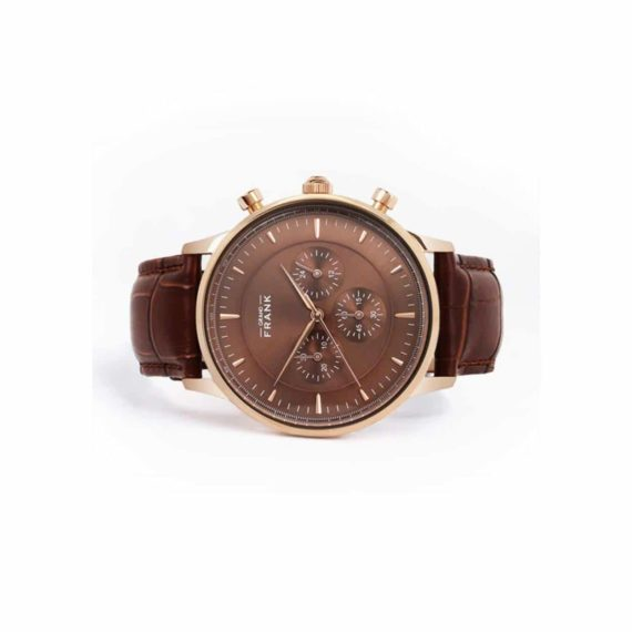 002311 Grand Frank Kingston Brown Leather Watch