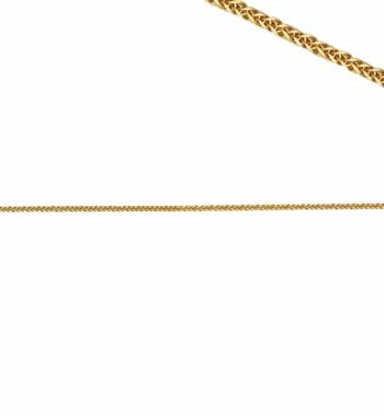 C13 002 Αλυσίδα Χρυσή Λεπτή Πλεκτή Τετράγωνη