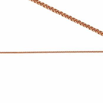 Αλυσίδα Ροζ Χρυσός Λεπτή Πλεκτή Τετράγωνη 50cm