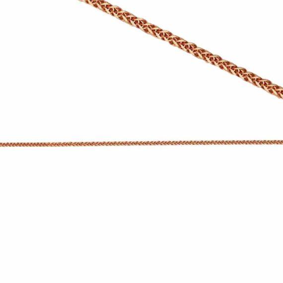 C13 010 Αλυσίδα Ροζ Χρυσός Λεπτή Πλεκτή Τετράγωνη