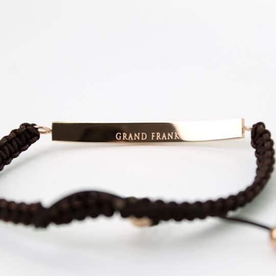 Grand Frank Βραχιόλι Καφέ & Ροζ Χρυσό (1)