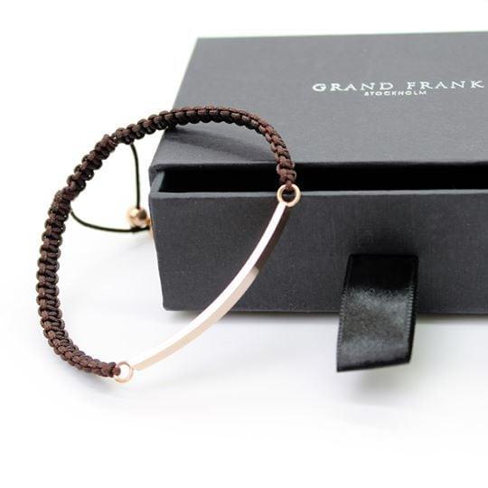 Grand Frank Βραχιόλι Καφέ & Ροζ Χρυσό (2)