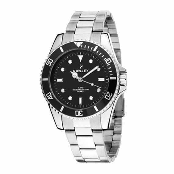 8 5316 0 2 Nowley Metallic Steel Analog Watch Black Dial