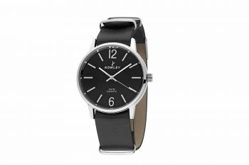 8 5538 0 A4 Nowley Black Leather Strap