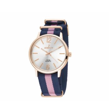 Nowley Rose Gold Blue Fabric Strap Women's Watch – 8-5573-0-13