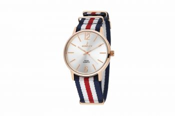 8 5573 0 5 Nowley Rose Gold Multicolor Fabric Strap