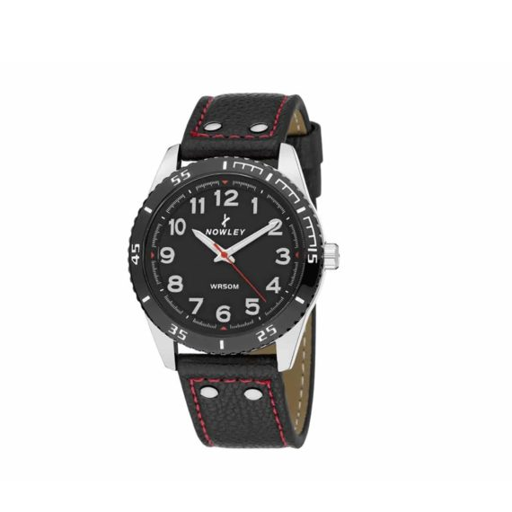 8 5635 0 1 Nowley Black Leather Strap