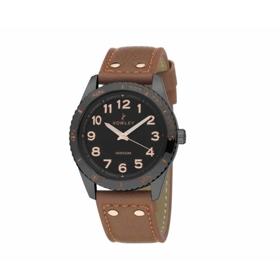 8 5635 0 3 Nowley Brown Leather Strap