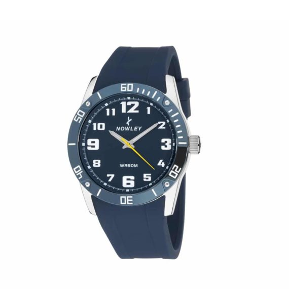 8 5642 0 2 Nowley Blue Rubber Strap And Blue Dial