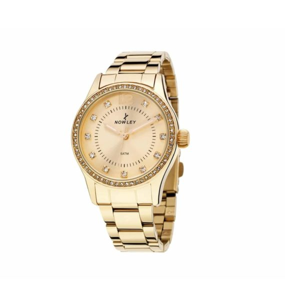 8 5660 0 0 Nowley Crystals Gold Stainless Steel Bracelet