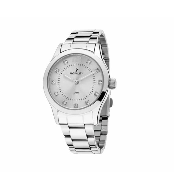 8 5665 0 0 Nowley Crystals Stainless Steel Bracelet Silver