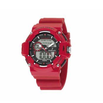 Nowley Digital Red Rubber Strap Men's Watch – 8-6188-0-2