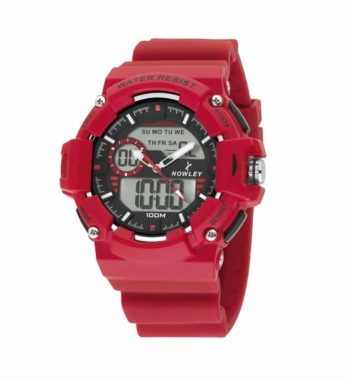 8 6188 0 2 Nowley Digital Red Rubber Strap