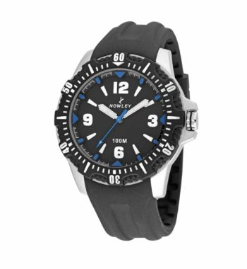 8 6191 0 1 Nowley Black And Blue Rubber Strap