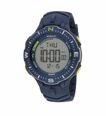8 6238 0 2 Nowley Digital Blue Rubber Strap Compass