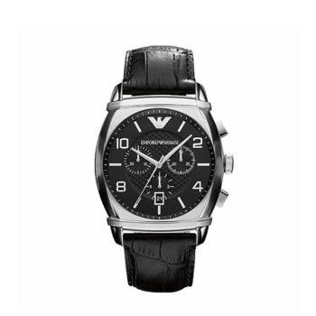 Ar 0347 Emporio Armani Classic Black Leather Mens Watch E1554321529535