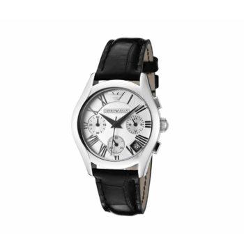 Ar 0670 Emporio Armani Black Leather Strap Chronograph