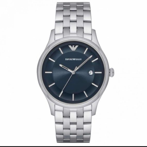 AR 11019 Emporio Armani Blue Dial Men's Stainless Steel Watch