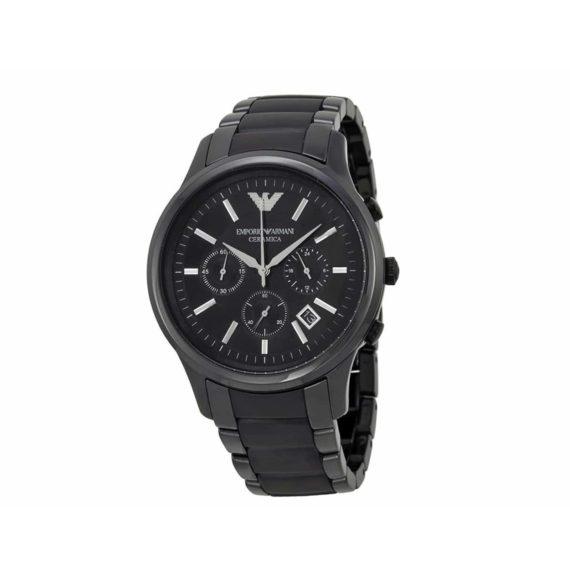 Ar 1452 Emporio Armani Chronograph Black Ceramic Bracelet