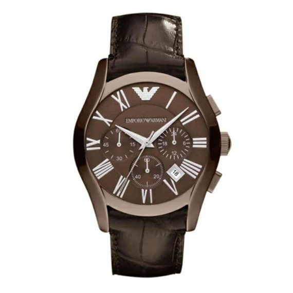 AR 1609 Emporio Armani Men's Classic Brown Leather Watch