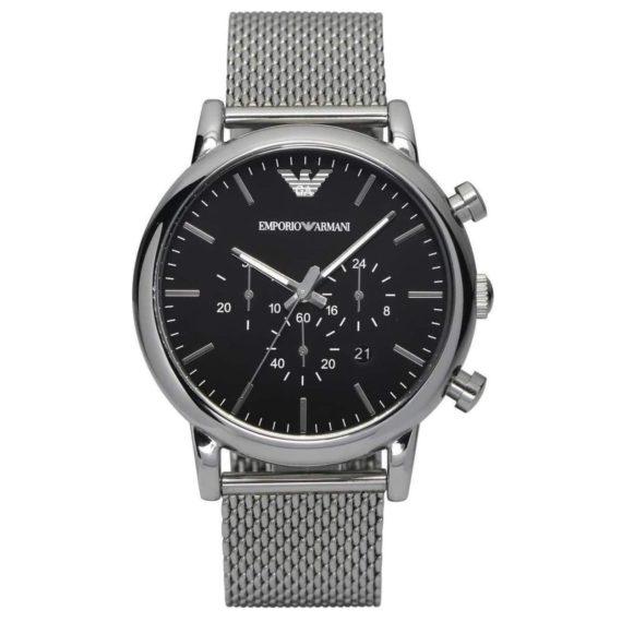 AR 1808 Emporio ArmaniClassic Chronograph Black Dial Men's Watch