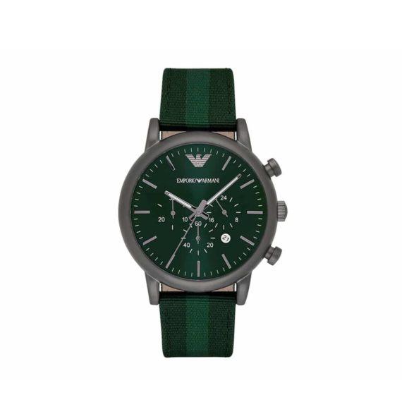 Ar 1950 Emporio Armani Green Fabric Strap