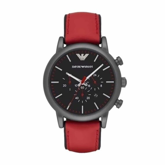 AR 1971 Emporio Armani Luigi Chronograph Black Dial Men's Watch