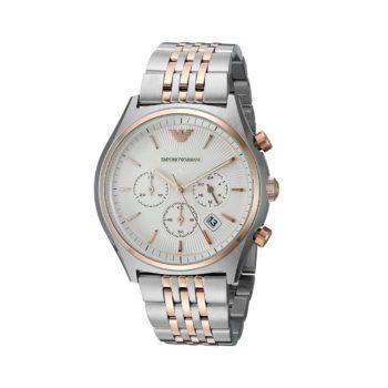 Emporio Armani Zeta Two Tone Chronograph Men's Watch – AR1998